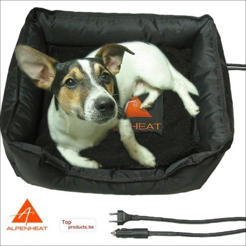 Verwarmd hondenmandje AJ11 Alpenheat  220V + 12Volt 55x55cm