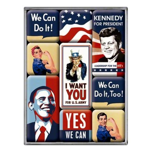 United States of America- Magneet set- Nostalgic Art