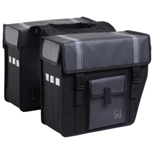 Willex dubbele BP Shopper afgeschuind 33L-zwart / matzwart