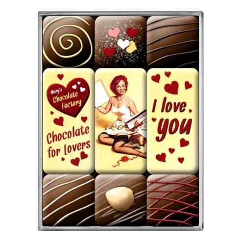 Say it I Love You - Magneet set- Nostalgic Art