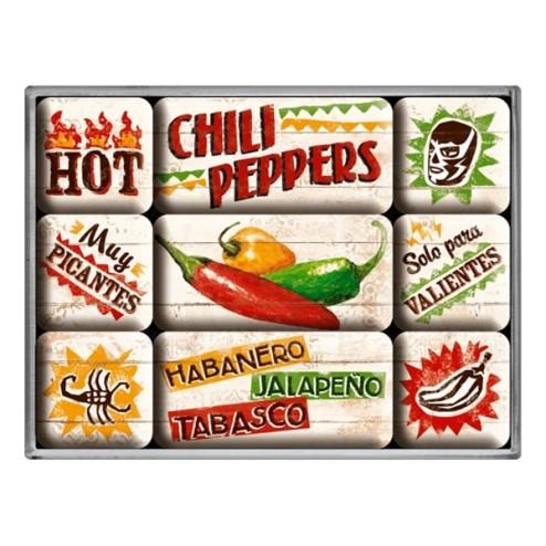 Chili Peppers - Magneet set- Nostalgic Art