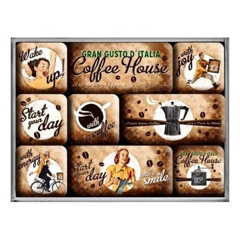 Gran Gusto D'Italia Coffee House - Magneet set- Nostalgic Art