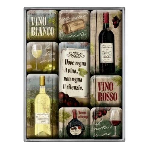 Vino Itallano - magneetset - Nostalgic Art
