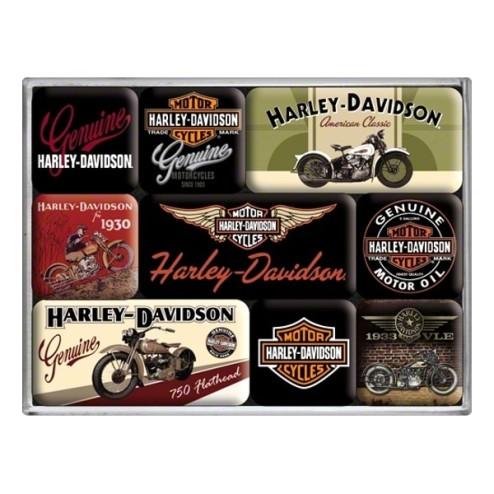 HARLEY-DAVIDSON Bikes Magneet set- Nostalgic Art