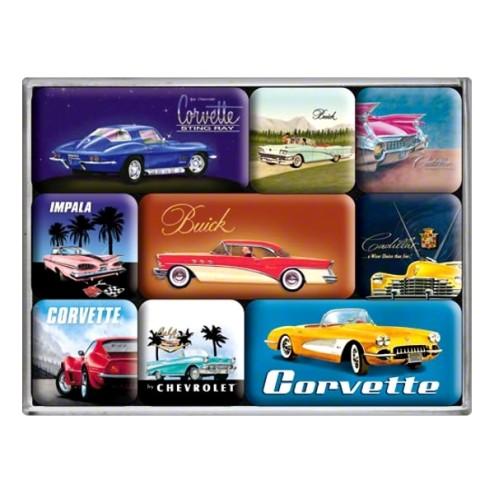 U.S. Cars - Magneet set- Nostalgic Art