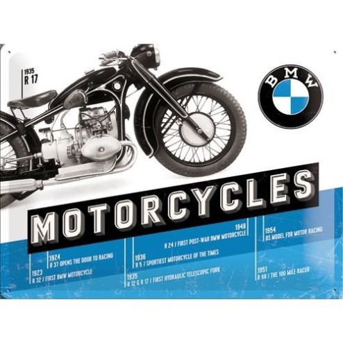 BMW Timeline Tin Sign 30x40cm