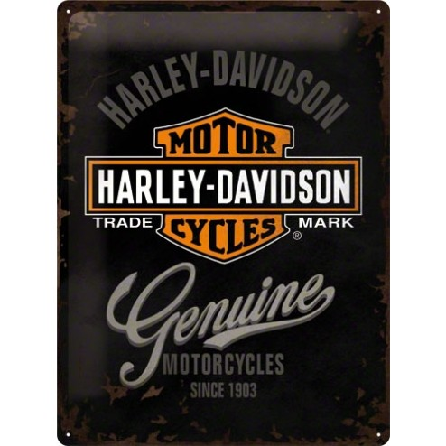 Tin Sign Harley-Davidson Genuine Logo