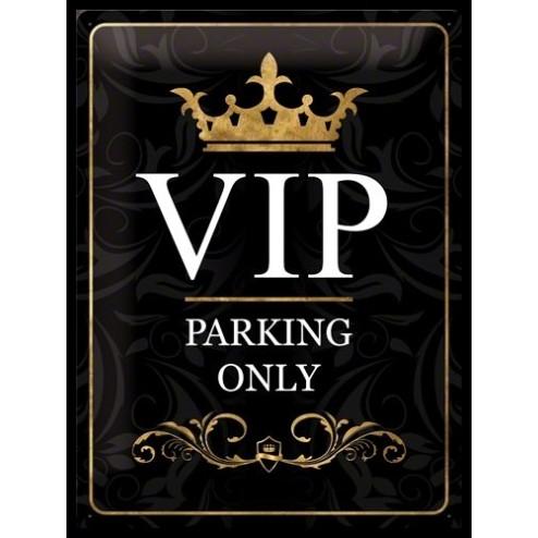 Metaalplaat VIP Parking 30x40cm.zwart Nostalgic Art