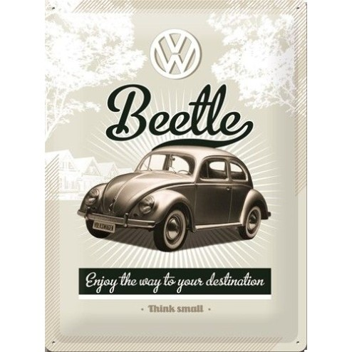 Metaalplaat Beetle Nostalgic Art 23166