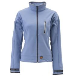 30Seven verwarmde Soft Shell damesjas -blauw
