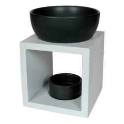 Geurbrander vierkant wit-zwart