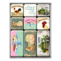 Magneet set Home and Country - Nostalgic Art