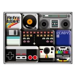 Magneet set Retro Wave Media - Nostalgic Art