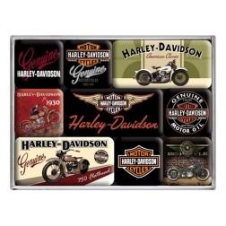 Magneet set- HARLEY-DAVIDSON Bikes - Nostalgic Art