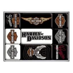 Magneet set- HARLEY-DAVIDSON - Nostalgic Art