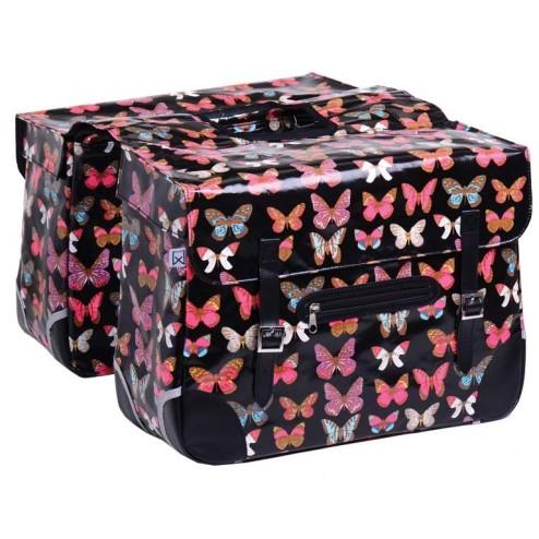 Dubbele Polykatoen Tas Black Butterfly 33Liter Willex
