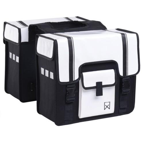 Willex dubbele Shopper 38L. Zwart-Wit