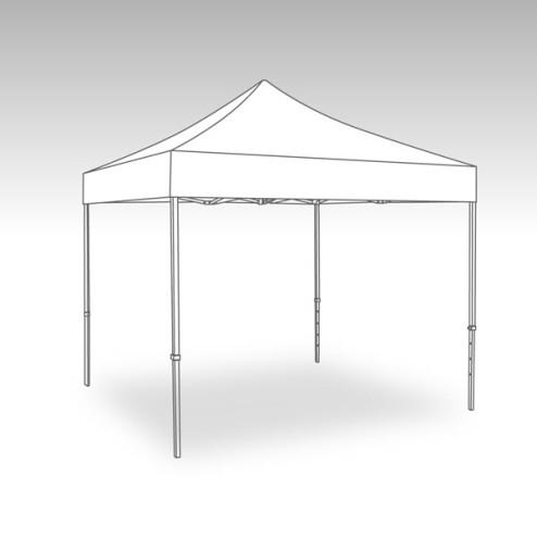 Vouwtent aluminium frame met dakzeil - 3x3m - Polyester