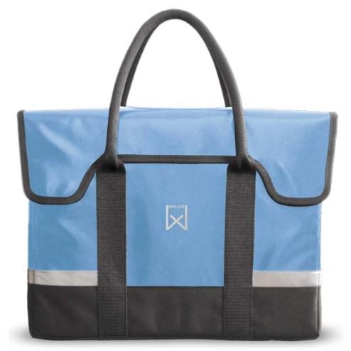 Willex Shopper Bisonyl 18L.Lichtblauw-grijs