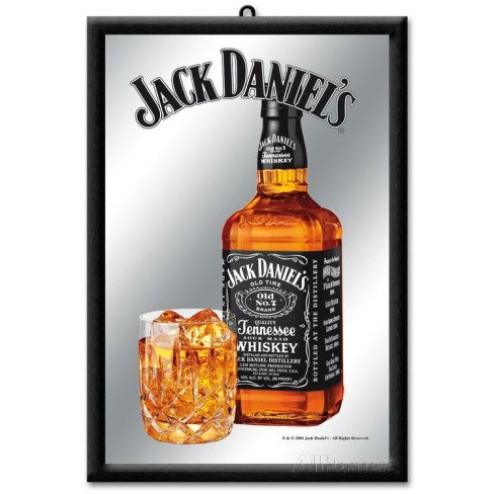 Spiegel Jack Daniels met glas