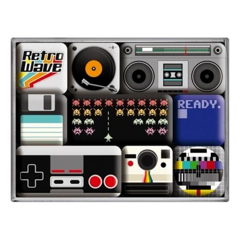 Retro Wave Media Magneet set- Nostalgic Art