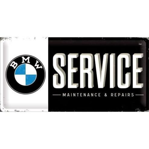 Metaalplaat BMW service Nostalgic 25x50 Art 27010