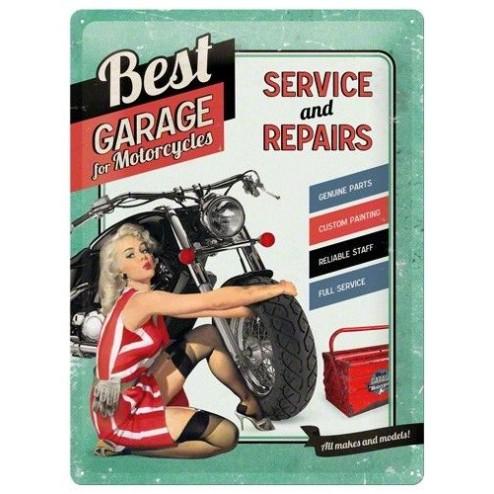 Metaalplaat Best Garage for Motorcycles 30x40cm.Nostalgic Art