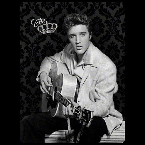 Metaalplaat Elvis the King 30x40cm.Nostalgic Art