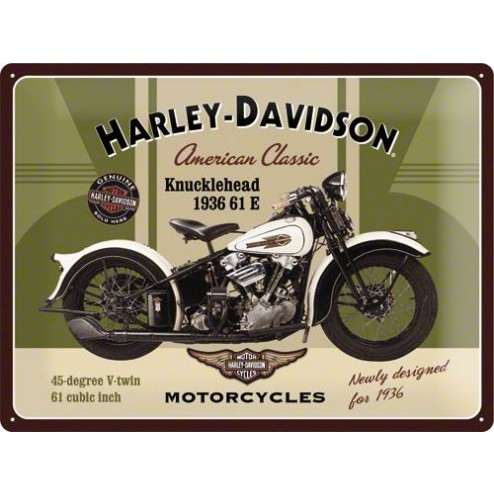 HARLEY-DAVIDSON Tin Sign 30x40cm
