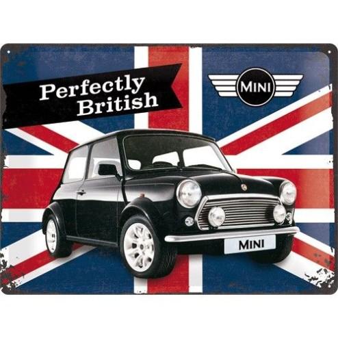 Mini Union Jack Tin Sign 30x40cm