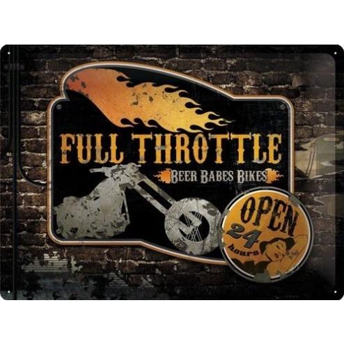 Metaalplaat Full Throttle 30x40cm.Nostalgic Art