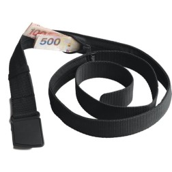 Anti-theft travel belt wallet black pacsafe