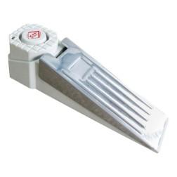 Huisbeveiliging deurstopper met alarm wit