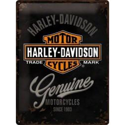 Tin Sign Harley-Davidson Genuine Logo