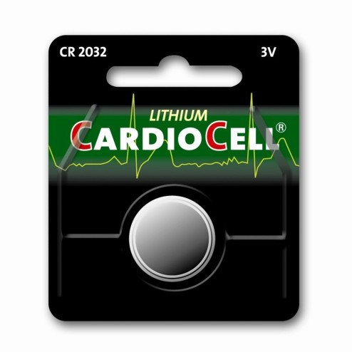 Batterij CARDIOCELL CR 2032, Knoopcel, Lithium, 3 V