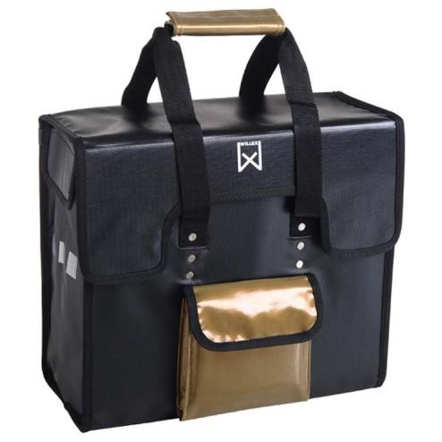 Fietstas enkel Bisonyl Willex 18 liter zwart-goud