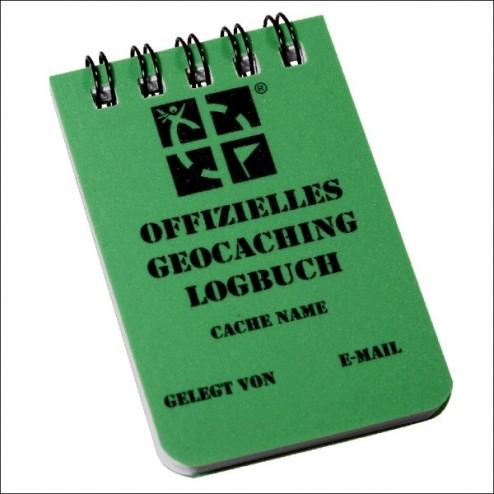 Geocaching.com Logboek A8 Groen-Duits-  set 2x