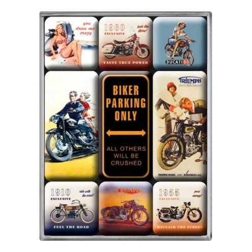 Motorfietsen Magneet set- Nostalgic Art