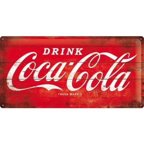 Metaalschild 25x50cm Drink Coca Cola 1960 Nostalgic Art