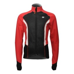 Verwarmde fietsjas thermocycling heren Black-Red 30Seven