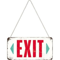 Hanging Sign Exit Nostalgoc art
