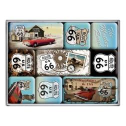 ROUTE 66 - Magneet set- Nostalgic Art