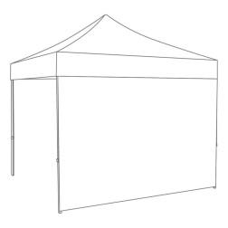 Zijwand gesloten - 3m - Polyester