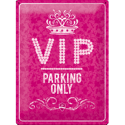 Metaalplaat VIP Parking only 30x40cm.Nostalgic Art