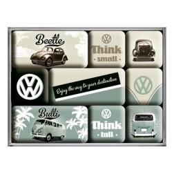 Volkswagen Beetle Bulli - Magneet set- Nostalgic Art
