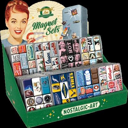 Magneet sets van nostalgic art