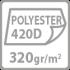polyester 420D 320gr